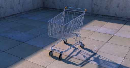 cart push cart shadow shopping cart